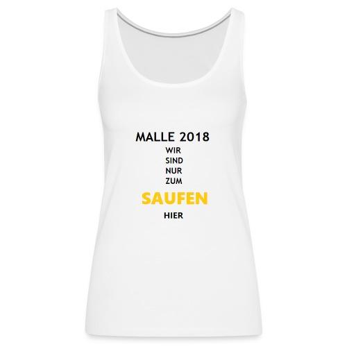 Mallorca 2018 Bierkönig SAUFEN - Frauen Premium Tank Top
