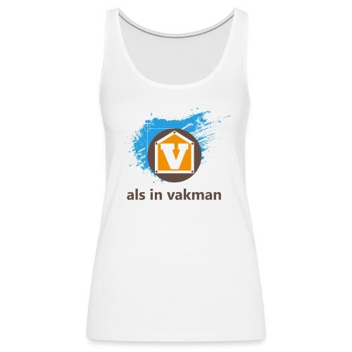 V als in Vakman - Vrouwen Premium tank top