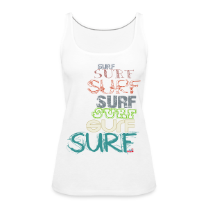 Surfing dreams for surf addicted, by kite-mallorca - Women's Premium Tank Top