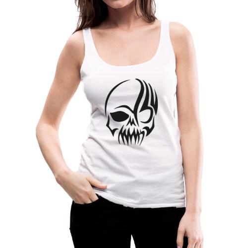 tribals skull - Frauen Premium Tank Top