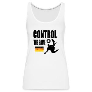 Control the game Deutschland zwart - Vrouwen Premium tank top