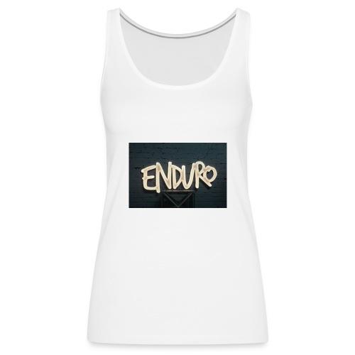 Koszulka z logiem Enduro. - Tank top damski Premium