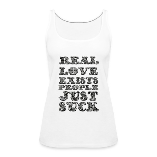 Real Love Exists REBEL INC. - Tank top damski Premium