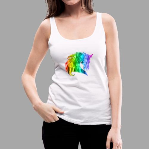 Rainbow Horse - Canotta premium da donna