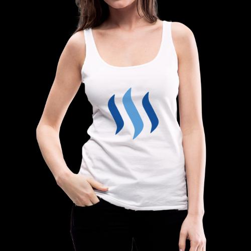steem logo - Frauen Premium Tank Top