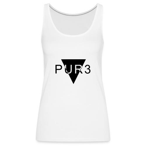 Pur3 grå hettegenser - Premium singlet for kvinner