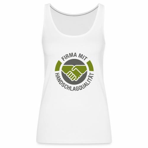 Handschlagqualität Logo grau - Frauen Premium Tank Top
