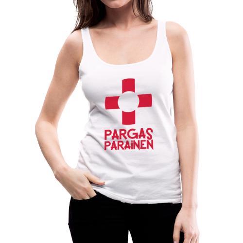 Livboj: Pargas (röd text) - Naisten premium hihaton toppi