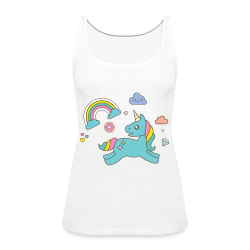 colored unicorn - Women's Premium Tank Top