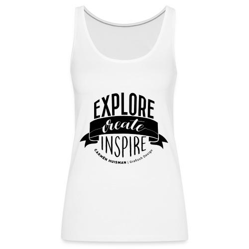 Explore, Create & Inspire - Vrouwen Premium tank top