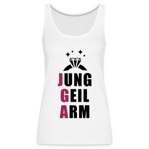 jung, geil arm - JGA T-Shirt - JGA Shirt - Party - Frauen Premium Tank Top