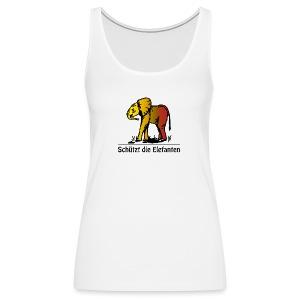 Schützt die Elefanten(-Kinder) - Frauen Premium Tank Top