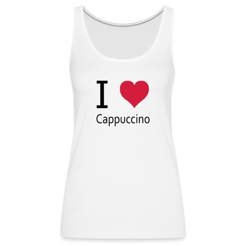 svgHeartCappuccino - Frauen Premium Tank Top
