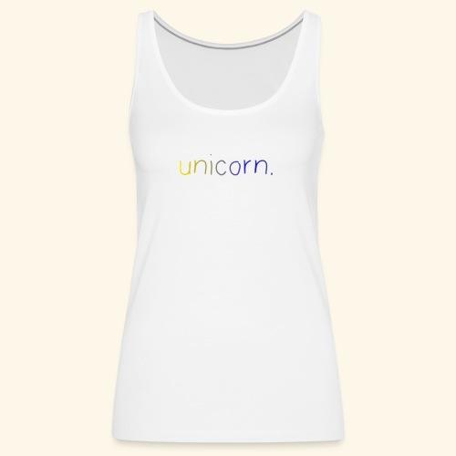 little unicorn. - Frauen Premium Tank Top