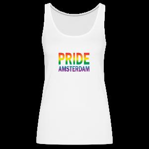 Pride Amsterdam in regenboog kleur - Vrouwen Premium tank top