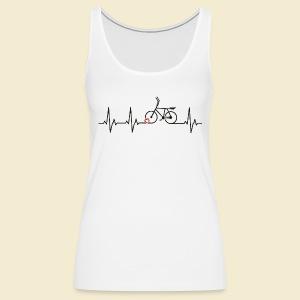 Radball | Heart Monitor Black - Frauen Premium Tank Top