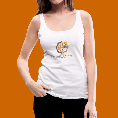 Clockwork-Orange Community Logo mit Schrift - Frauen Premium Tank Top
