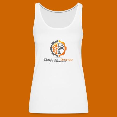 Clockwork-Orange Community Logo mit Schrift - Frauen Premium Tank Top
