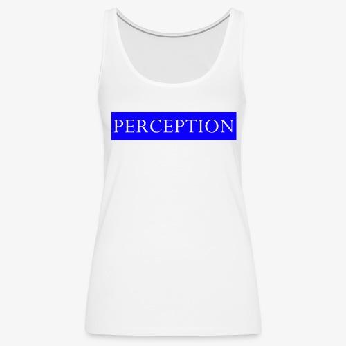 PERCEPTION CLOTHES BLEU ET BLANC - Débardeur Premium Femme