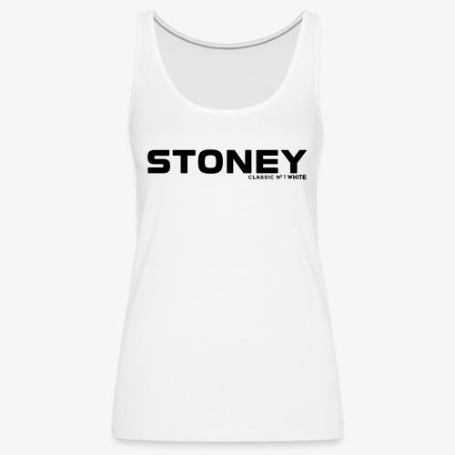 STONEY Classic No.1 WHITE - Frauen Premium Tank Top
