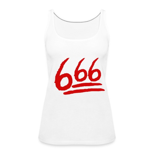 666 playera - Camiseta de tirantes premium mujer