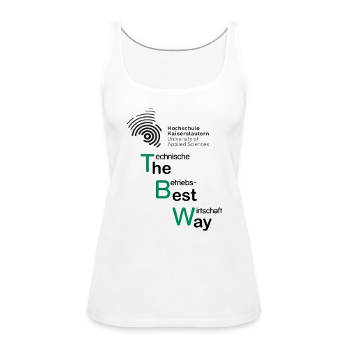 TBW Best Way sw/gr - Frauen Premium Tank Top