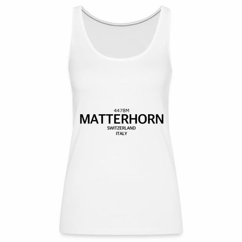 MATTERHORN - Camiseta de tirantes premium mujer