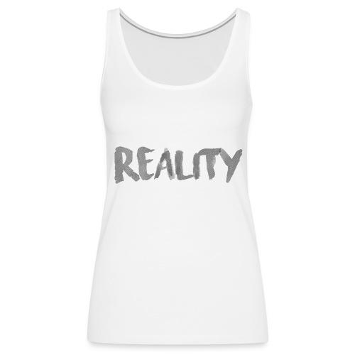 White_REALITY - Débardeur Premium Femme