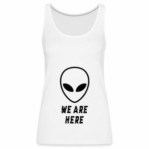 Alien Were Here - Women's Premium Tank Top