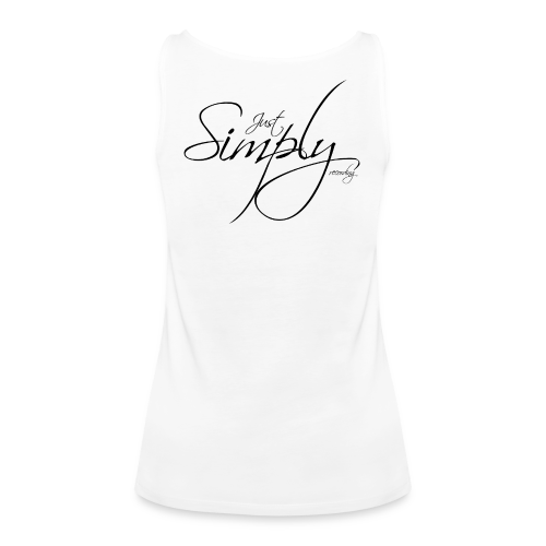 Just Simply Logo black // back - Frauen Premium Tank Top
