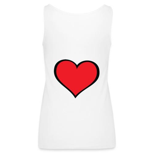 cuore - Canotta premium da donna
