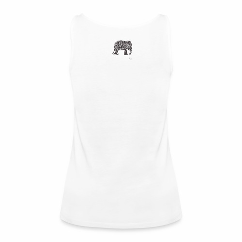 tangle-elephant print - Frauen Premium Tank Top