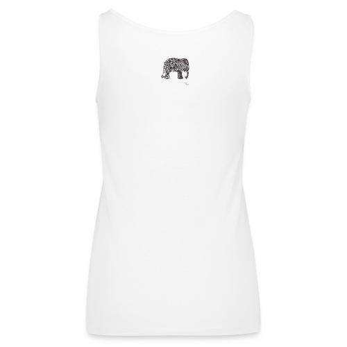 tangle-elephant print - Frauen Premium Tank Top