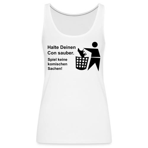 tapir muell shirt b negativ - Frauen Premium Tank Top