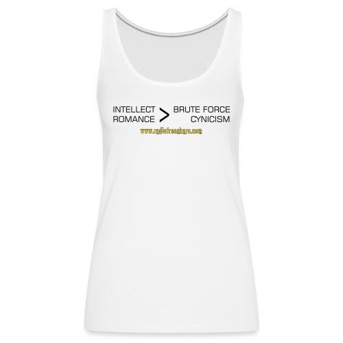 shirt intellect - Women's Premium Tank Top