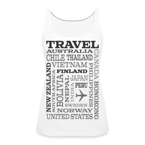 Travel Places Gray design - Naisten premium hihaton toppi
