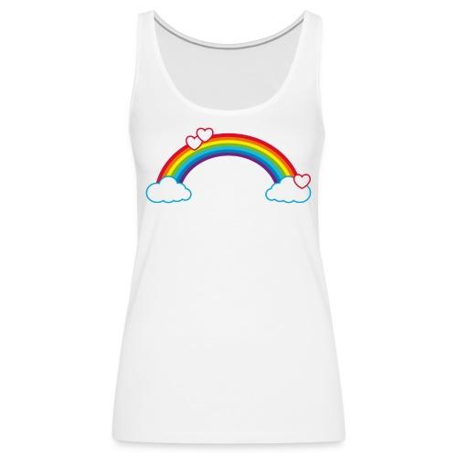 Regenbogen Sonne Herz Rainbow Cloud Heart - Women's Premium Tank Top