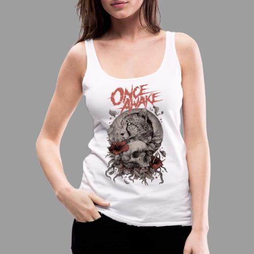 Once Awake skull - Premium singlet for kvinner