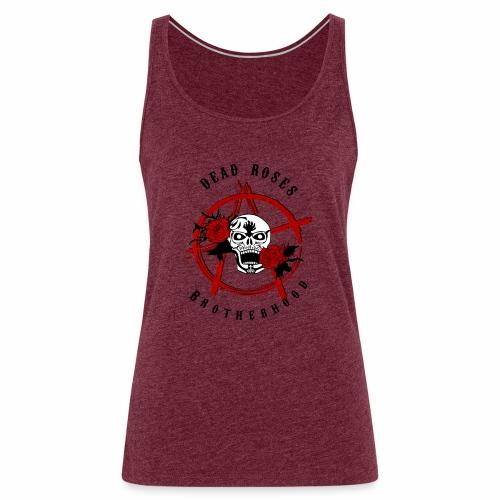Dead Roses Anarchy Skull Black - Women's Premium Tank Top