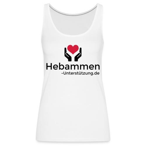 Logo Hebammen Unterstützung de schwarz klein - Frauen Premium Tank Top