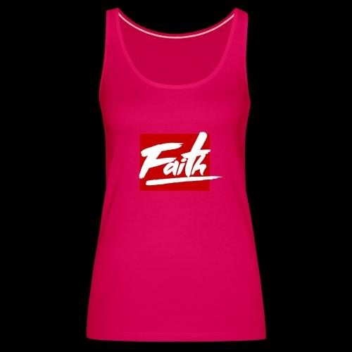 Faith Red - Camiseta de tirantes premium mujer