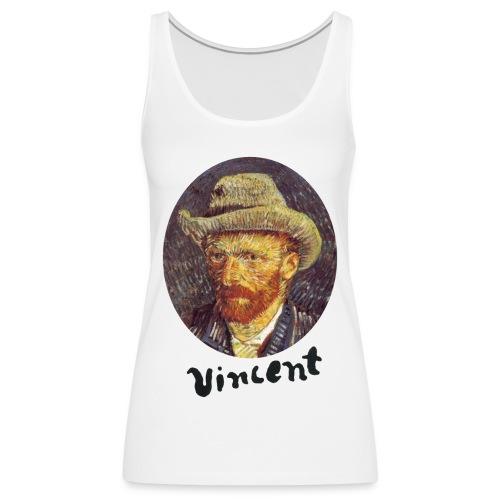 Vincent van Gogh Self Portrait with Grey Felt Hat - Vrouwen Premium tank top