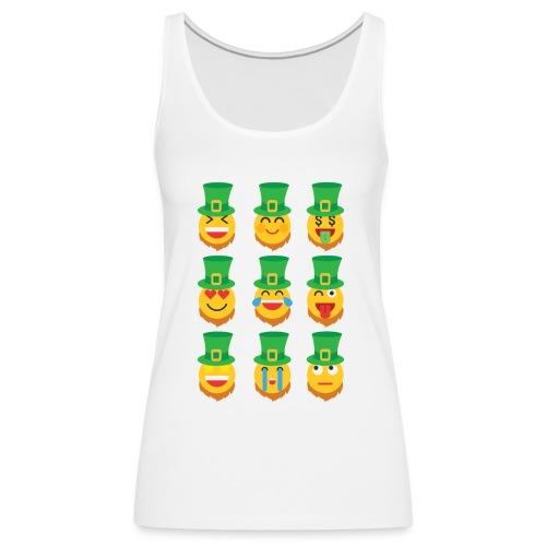 Awesome Leprechaun Emoji St. Patty's Green Feast B - Women's Premium Tank Top