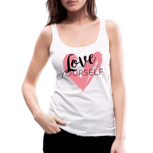 Love Yourself Logo von Pascal Voggenhuber - Frauen Premium Tank Top