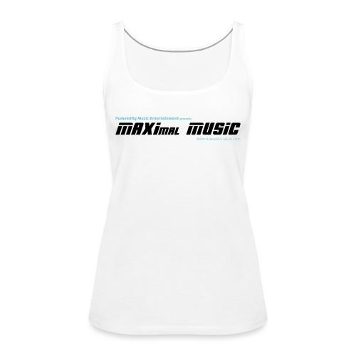 maximal music logo schwarz 01 orig01 - Frauen Premium Tank Top