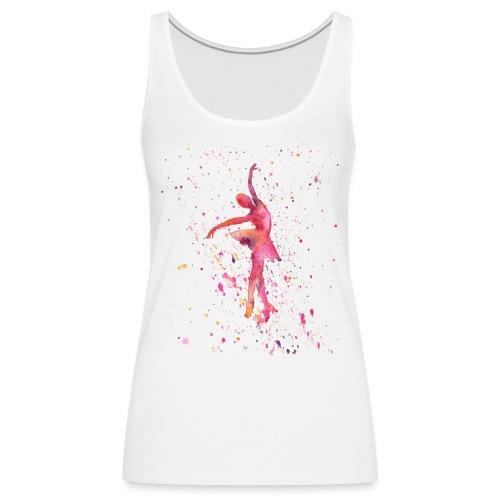 danseuse rose à l'aquarelle - Débardeur Premium Femme
