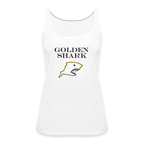 Golden Shark - Camiseta de tirantes premium mujer