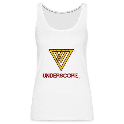 Underscore Yellow Red - Women's Premium Tank Top