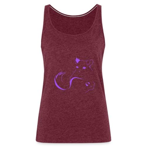 logo erittain iso violettina 1 png - Naisten premium hihaton toppi