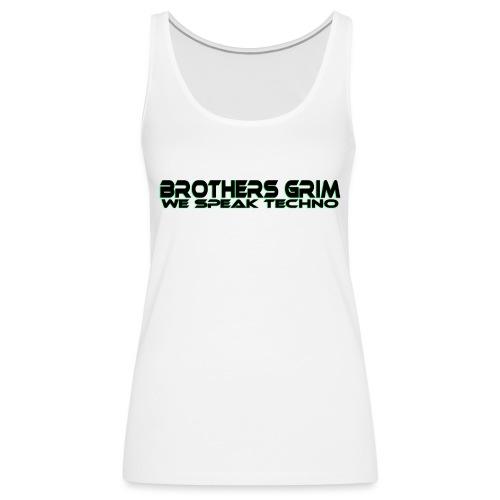 brothers grim BLK GRN copy png - Women's Premium Tank Top